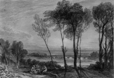Landscape with Bridge in middle distance