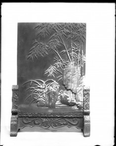 Screen Panel with Bamboo and rockery