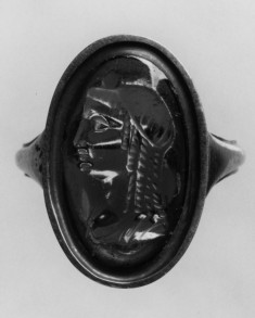 Intaglio with Bust of a Woman Set in a Ring