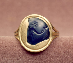 Intaglio Fragment with a Goddess Set in a Ring