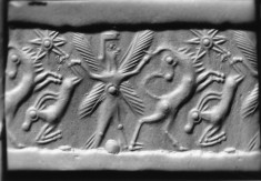Cylinder Seal with Frolicking Animals