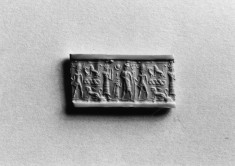 Cylinder Seal with Three Figures with Animals