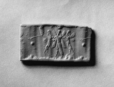 Cylinder Seal with Winged Genius in Combat