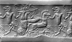 Cylinder Seal with a Chariot Combat Scene