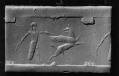Cylinder Seal with Hero Capturing a Rampant Griffin