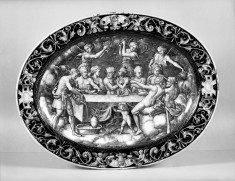 Oval Dish with River God and the Wedding Feast of Psyche