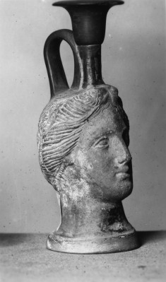 Lekythos in the Form of a Woman's Head