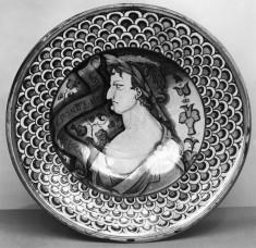 Dish with a Roman Emperor in Profile