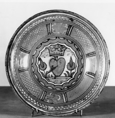 Bowl with Crowned Pierced Heart