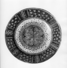 Dish with Geometric and Floral Motifs
