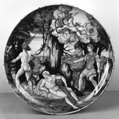 Dish with Apollo and Daphne