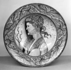 Dish with a Classical Bust