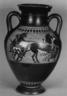 Amphora with Herakles and Apollo