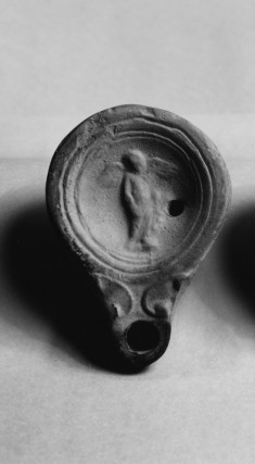 Oil Lamp with Figure of Eros