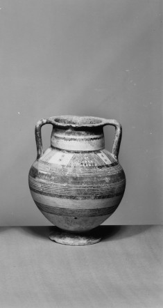 Amphora with Geometric Decoration