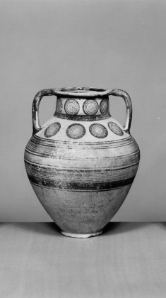 Amphora with Geometric Decoration