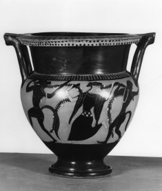Column Krater with Maenad and Satyrs