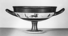 Kylix Depicting a Driver in a Quadriga on One Side and Horseman on the Other