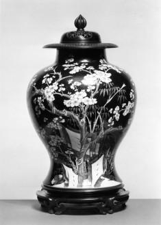 Vase with Flowering Plum Design