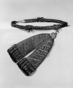 Sword Belt and Hanger with Floral Designs, Putti and Masks