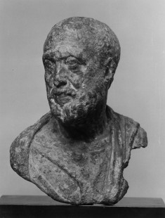 Head and Bust of Bearded Man