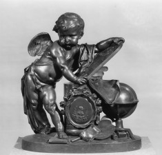 Allegory includes Cupid holding a tablet