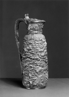 Ewer with foliage and flowers