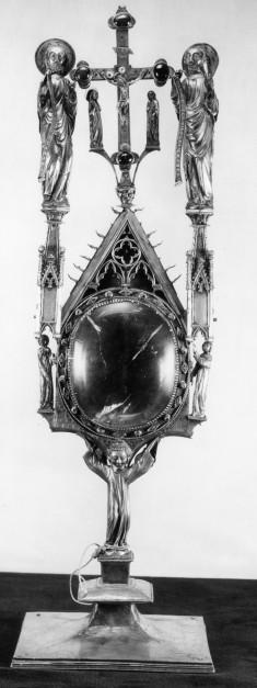 Various figures; crucifixion