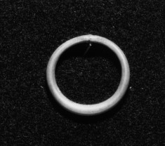 Silver Ring with Flattened Hoop