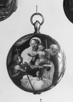 Enameled Watch with the Holy Family and Saint John