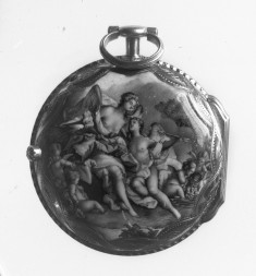 Hymen Seated on a Rock with Torch and Cupid