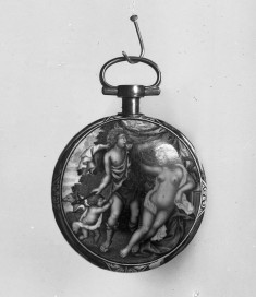 Enameled Watch with Bacchus Finding Ariadne