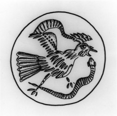 Disc Seal with a Bird