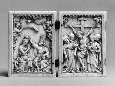 Diptych with the Coronation of the Virgin and the Crucifixion
