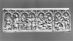 Scenes of the Annunciation, Arrival and Adoration of the Magi, and Massacre of the Innocents