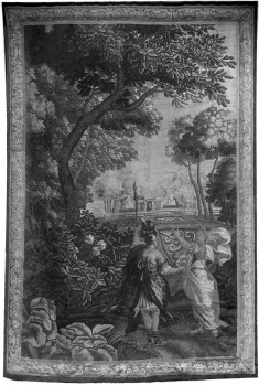 Man and woman in classical costume/park