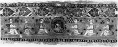 Band from a Garment with Bust flanked by figures bearing gifts