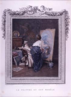 Study for le peintre et son modèle