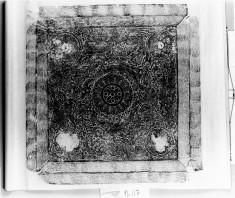 Epitaph tablet;lotus,dragon,clouds