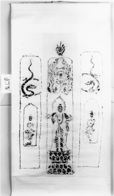 Sakyamuni;flying angels;bodhisattva