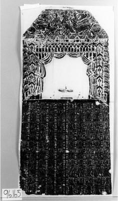 Buddhist image;3 apsara's;donors