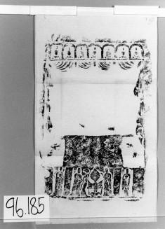 Buddhist shown in a niche