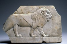 Model with a Lion and a Bull