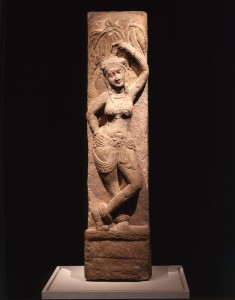 Relief with Woman and Tree Motif
