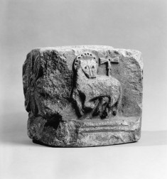 Architectural Element or Small Capital with Angus Dei