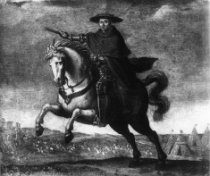 Cardinal Mazarin Riding To Villafranca with the Treaty of Peace