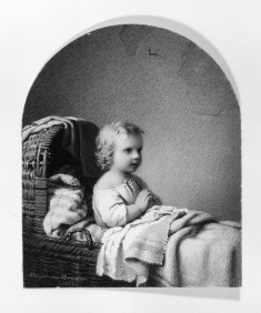Child in Cradle Praying