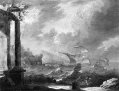 Stormy Seacoast with Classical Ruins