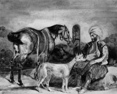 Greek with a Horse and Dog