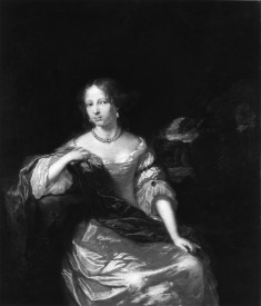 Portrait of a Young Woman in Satin